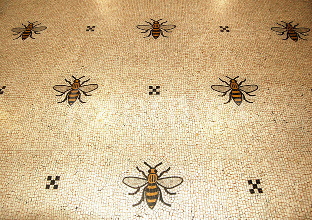 bee tiled floor Manchester town hall